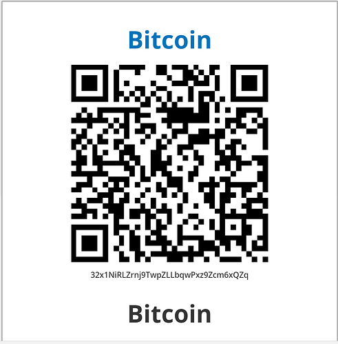Example GNEISS Bitcoin Address